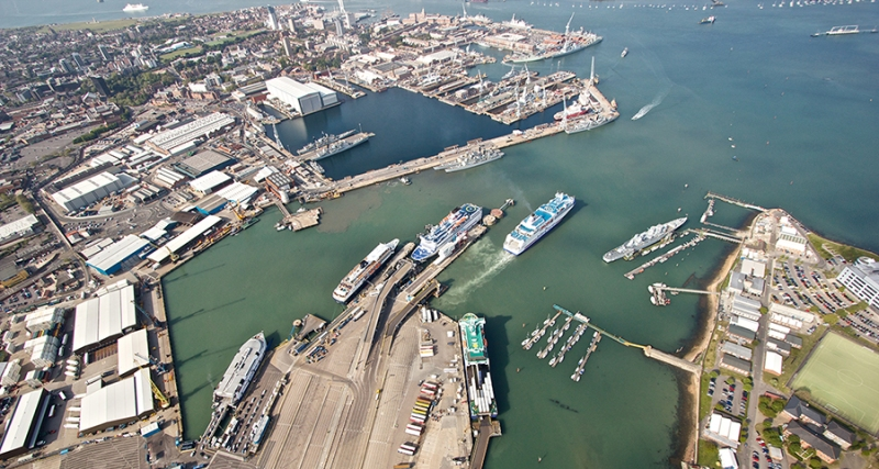 213-34448_Aerial_view_of_Portsmouth_and_ferry_terminals