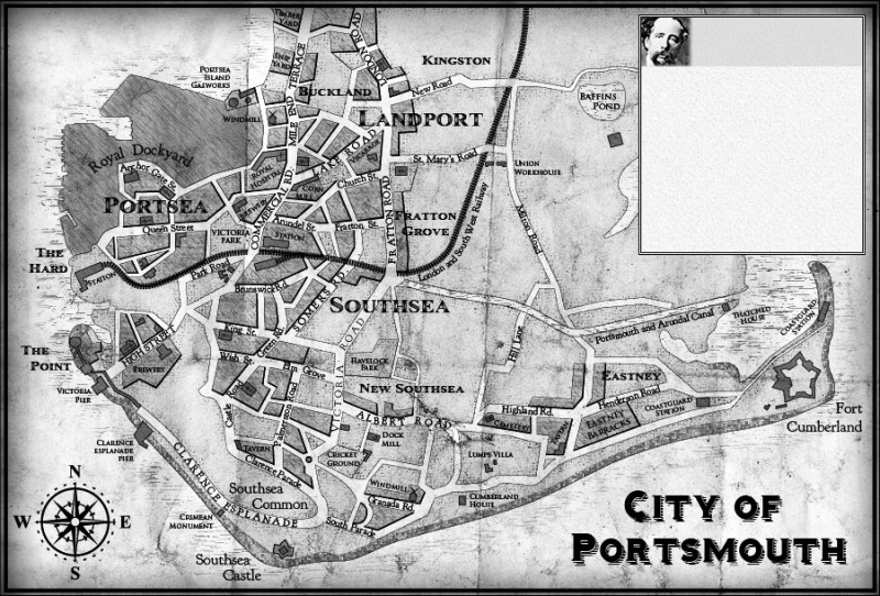 portsmouth streets 1860 c